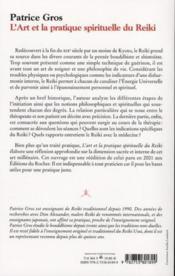 L'art et la pratique spirituelle du reiki - 4ème de couverture - Format classique