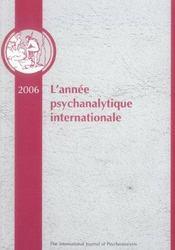 Annee Psychanalytique Internationale 2006 - Intérieur - Format classique