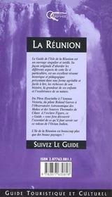 La reunion - suivez le guide - 4ème de couverture - Format classique