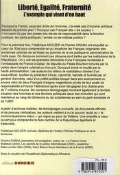 Un racisme français - 4ème de couverture - Format classique