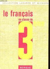 LE FRANCAIS EN CLASSE DE 3ème - Couverture - Format classique