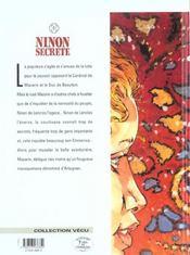 Ninon secrète t.2 ; mascarades - 4ème de couverture - Format classique