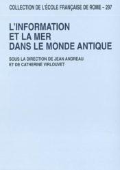 L'Information Et La Mer Dans Le Monde Antique - Couverture - Format classique