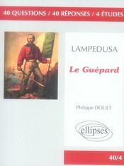 Le guépard de Lampédusa - Intérieur - Format classique