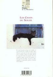 Les Chats Du Soleil - 4ème de couverture - Format classique