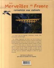 Les merveilles de France racontées aux enfants - 4ème de couverture - Format classique