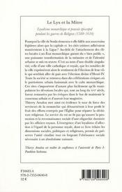 Le Lys Et La Mitre - 4ème de couverture - Format classique