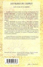 Les Ruses De L'Esprit Ou Les Arcanes De La Complexite - 4ème de couverture - Format classique