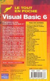 Visual Basic 6 - 4ème de couverture - Format classique