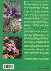 La flore des montagnes mediterraneennes - 4ème de couverture - Format classique