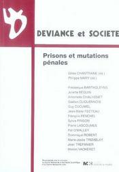 Prisons et mutations pénales - Intérieur - Format classique