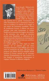 Traduit de la nuit ; nadika tamin' ny alimna - 4ème de couverture - Format classique