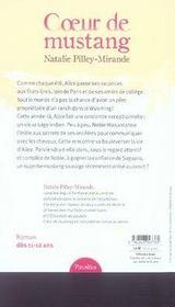 Coeur de mustang - 4ème de couverture - Format classique