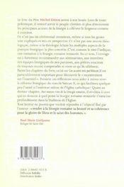 Initiation à la liturgie romaine - 4ème de couverture - Format classique