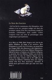 Les mosquitos t.1 ; le livre des sorciers - 4ème de couverture - Format classique