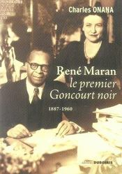 Rene maran, le premier goncourt noir - Intérieur - Format classique