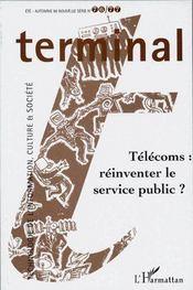 Terminal N.76/77 ; Télécoms ; Réinventer Le Service Public ? - Couverture - Format classique