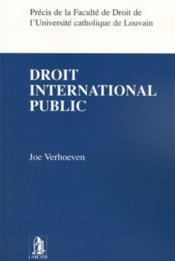 Droit International Public - Couverture - Format classique