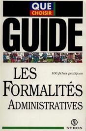 Les Formalites Administratives - Couverture - Format classique