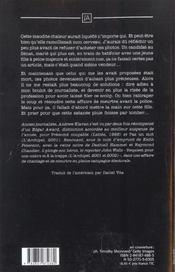Tombe la pluie - 4ème de couverture - Format classique