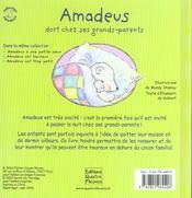 Amadeus dort chez ses grands-parents - 4ème de couverture - Format classique