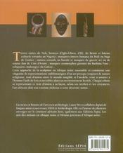Sculptures et masques d'afrique noire - 4ème de couverture - Format classique