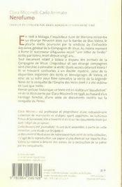 Nerofumo - 4ème de couverture - Format classique