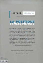 La Nouvelle Revue D'Idees Chretienne. La Politique Schizophrene, N 4 - Couverture - Format classique