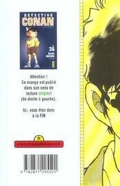Detective Conan T36 - 4ème de couverture - Format classique