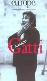 Revue Europe N.877 ; Armand Gatti ; Mai 2002 - Intérieur - Format classique