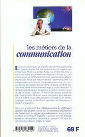 Les metiers t.228 ; communication - 4ème de couverture - Format classique