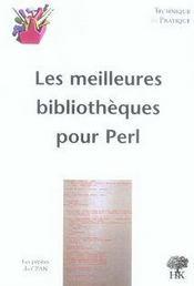 Les meilleures bibliothèques pour perl - Intérieur - Format classique
