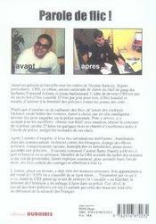 Jamel le CRS ; révélations sur la police de Sarkozy - 4ème de couverture - Format classique