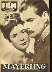 Film Complet N° 662 - Mayerling ( Le Dernier Amour Du Fils De Sissi ) - Couverture - Format classique