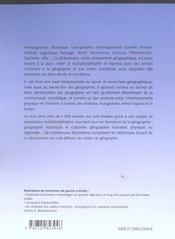 Dictionnaire De Geographie - 4ème de couverture - Format classique