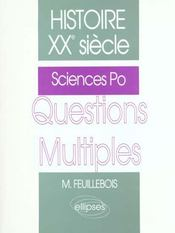 Histoire Xxe Siecle Questions Multiples Sciences Po - Intérieur - Format classique