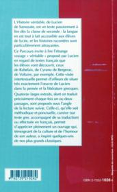 Lucien:histoire verit,livres i et ii-parcours langues anciennes - 4ème de couverture - Format classique