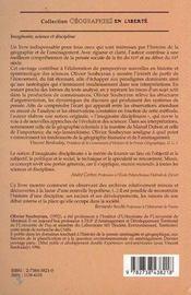 Imaginaire, Science Et Discipline - 4ème de couverture - Format classique