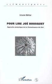 Pour Lire Joe Bousquet - Intérieur - Format classique