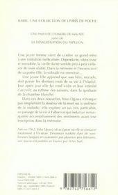 Une Parfaite Chambre De Malade ; La Desagregation Du Papillon - 4ème de couverture - Format classique