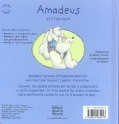 Amadeus est heureux - 4ème de couverture - Format classique