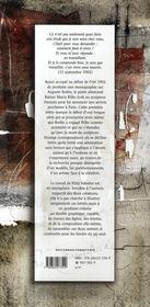 Cher maître ; lettres à Auguste Rodin 1902-1913 - 4ème de couverture - Format classique