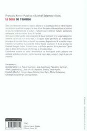 Le Sens De L'Homme ; Au Coeur De La Bioethique - 4ème de couverture - Format classique