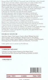 Europe Gustave Roud 882 - Octobre 2002 - 4ème de couverture - Format classique
