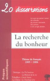 20 dissertations avec analyses et commentaires sur le thème La recherche du bonheur. Tchekhov