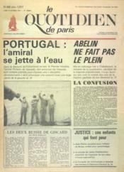 Quotidien De Paris (Le) N°466 du 13/10/1975 - Couverture - Format classique