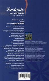 Randonnées dans le massif de belledonne - 4ème de couverture - Format classique