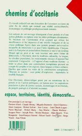 Chemins D'Occitanie - 4ème de couverture - Format classique