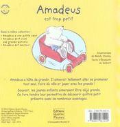 Amadeus est trop petit - 4ème de couverture - Format classique