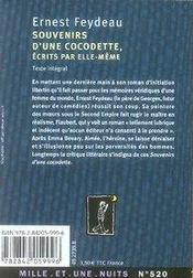 Souvenirs d'une cocodette - 4ème de couverture - Format classique
